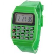 Pappi Boss Unisex Green Calculator Date Time Watch
