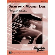 Swan on a Moonlit Lake by Margaret Goldston
