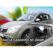 Deflektory komplet 4 ks - Dacia Sandero, 2008-12
