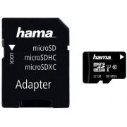 Card de memorie Hama microSDHC, 32GB, Clasa 10, pana la 80 MB/s, UHS-I + Adaptor SD