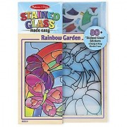Melissa & Doug Stained Glass See-Through Window Art Kit: Rainbow Garden - 80+ Stickers Frame