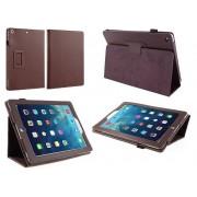 Apple iPad Air (iPad 5) - Leather Book Cover Flip Hoes voor bescherming voor- en achterkant - Kleur Bruin
