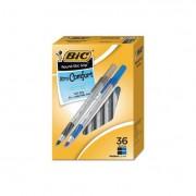 Round Stic Grip Xtra Comfort Ballpoint Pen, Black/blue, 1.2mm, Medium, 36/pack