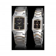 Onloon Oro Puro De 12 Puntos De Alta Calidad Marcas De Relojes Finos Impermeables San Jarno Tabla De Los Pares 1021 (par Watch) (Oro Y Negro)