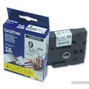 BROTHER TZ Tape, 9mm Black on White, Laminated, 8m lenght, for P-Touch (TZE221)