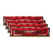 Ballistix Sport LT Kit Memoria da 32 GB (8 GBx4), DDR4, 2400 MT/s (PC4-19200), DIMM 288-Pin, Rosso - BLS4C8G4D240FSE