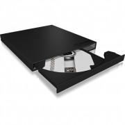 Raidsonic IB-AC640a Aluminium enclosure for 9.5 mm SATA slim line CD/DVD-ROM Black IB-AC640A