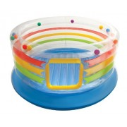 Intex Jump-O-Lene Transparent Ring Bounce with 100 Fun Ballz Bundle
