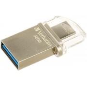 Stick USB Verbatim OTG Micro, 32GB, USB 3.0 (Argintiu)