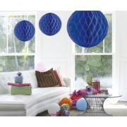 Decoratiebollen donker blauw 50 cm