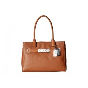 COACH Color Block Polished Pebble Leather New Swagger SVSaddle