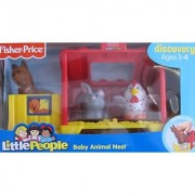 Fisher Price LITTLE PEOPLE Discovery BABY ANIMAL NEST w Farm Animals BABY LLAMA BUNNY & CHICK Figures & MORE! (2007)