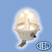 Por és páramentes lámpa EI-04 LED BOLO 4 LED 4x2W átlátszó polikarbonát búra IP54 Elba