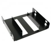 Adaptor Lian Li HD-520X de la 5.25 inch la 2x 2.5 inch HDD/SSD, aluminiu, culoare neagra