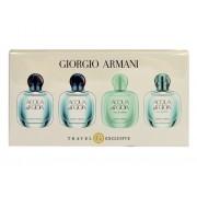 Giorgio Armani Mini Set 2X5Ml Edp Acqua Di Gioia + 5Ml Edt Acqua Di Gioia + 5Ml Edt Acqua Di Gioia Eau Fraiche 4X5Ml Per Donna (Eau De Toilette)