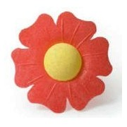 12 Red Poppies- Beautiful Edible Cake Decorations