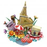 City Scape Paris - Puzzle 3D - 74 de piese
