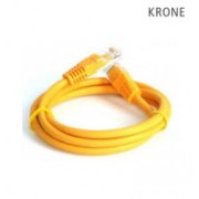 Krone Cat5E UTP Patch Yellow Molded Cord- 2m