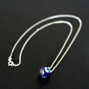 Necklace Silver 925 with Pendant Greek Eye
