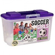 Kaskey Kids Soccer Girls - Inspires Imagination with Open-Ended Play - Includes 2 Full Teams and More - For Ages 3 and Up