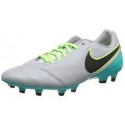 Nike Tiempo Genio ii Leather fg, Botas de Fútbol para Hombre, Gris (Gris (Wolf Grey/Black-Clear Jade))