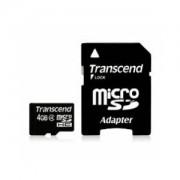 Tarjeta MicroSDHC 4GB Clase 4 Transcend con Adaptador