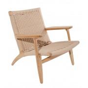 Replica Hans Wegner CH25 Easy Arm Chair - Natural Cord Seat - Various Wood Colours