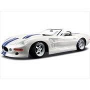 1999 Shelby Series 1 White W/Blue Stripes 1/18 by Maisto 31142