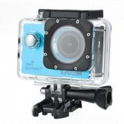 """SJCAM SJ4000 Wi-Fi Plus 1.5"""" LCD 2K Novatek96660 170° grand-angle Fish-Eye FHD Sport appareil photo - bleu"""