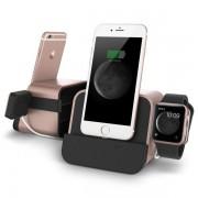 Verus i-Depot Plus Cradle - универсална док станция за iPhone, iPad, Apple Watch и мобилни устройства с microUSB (розово злато)