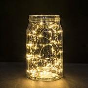 30 LEDs de cobre luzes fio luzes da corda 3m para festa de casamento luz festival de Natal ou decoração home lâmpada