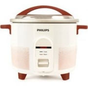 Philips HL1663/00 Electric Rice Cooker(1.8 L, White & pistil red)