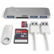 Satechi USB-C USB Hub - мултифункционален хъб за свързване на допълнителна периферия за компютри с USB-C (тъмносив)