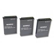 3x Batterie Li-Ion INTENSILO pour appareil photo, camÈscope Nikon CoolPix S6150, S6200, S6300, S8000, S8100, S8200, S9100, S9200 Remplace: EN-EL12.