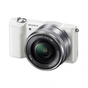 Sony A5000, 16-50mm, 20,1Mpix, bajonet E, biely