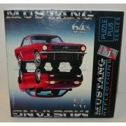 1964 1/2 and 1994 Red Ford Mustang Reflections 500 Piece Puzzle By Springbok