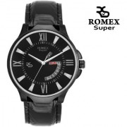 Romex Super Day N Date Analog Black Dial Mens Watch- Dd-09Blkblk