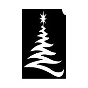 Karácsonyfa csillámtetoválás sablon