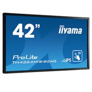 iiyama ProLite TH4264MIS-B2AG 42' LCD 10-Point Touch Screen with AG glass 1920x1080 120Hz IPS LED Fan-less speakers Multiple In-/Outputs (VGA DVI-D HDMI) Infr