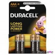 Pilas AAA Duracel - Pack 4 uds.