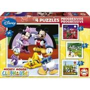 Educa 15288 - Puzzle Progressive Mickey Mouse (12-16-20-25)