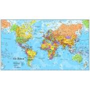 Prikbord Wereldkaart Engels, politiek, 101 x 59 cm cm | Maps International