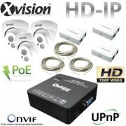 IP Kamerový set 3x HD IP kamera + NVR