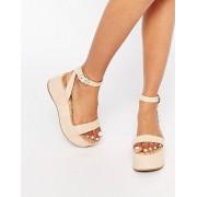 Sam Edelman Henley Suede Flatform Sandal - Soft nude (Sizes: UK 4)