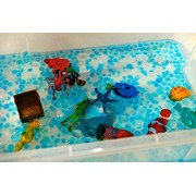 Kids Tactile Sensory Experience Jelly Bead Z 3 Color Make Your Own Lake Water Bead Gel 3 Packs Of 10 Grams Per Pack. Sea Creatures Not Included