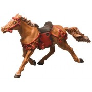 Plastoy-Samurai- Cavallo baio con briglie rosse - cavaliere non incluso