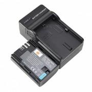 DSTE LP-E6 7.4V 2600mAh Batterie + Chargeur Dock Set pour Canon EOS 60D + plus - noir