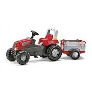 Rolly Toys 800261 - Veicolo a Pedali Junior RT, con Rimorchio Farmtrac