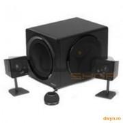 Boxe Creative 2.1 'GigaWorks T3' - Black, telecomanda pe fir, Dimensiune Sateliti 93x76x149 mm, Dime