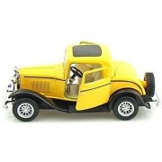 Kinsmart 1932 Ford 3-Window Coupe (Yellow Black)